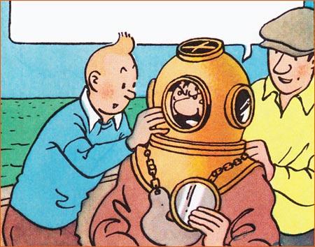 Les naufrageurs des mers du Sud selon Hergé.
