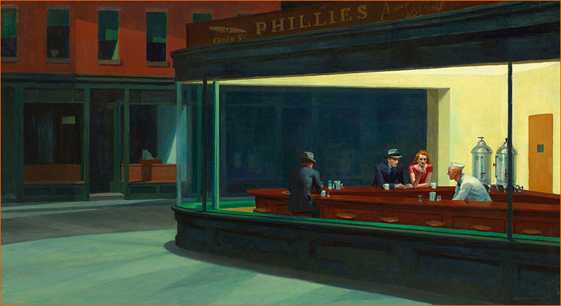 Nighthawks d'Edward Hopper.