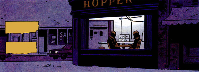 Nighthawks selon David Mazzucchelli.