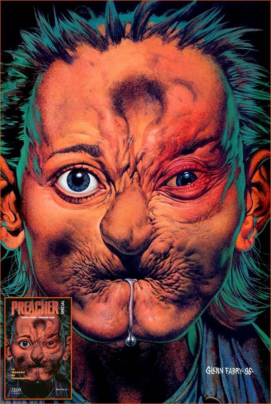 Preacher special #3 - La tragédie de Tronchdecul (Vertigo) de Richard Case et Garth Ennis (Couverture de Glenn Fabry).