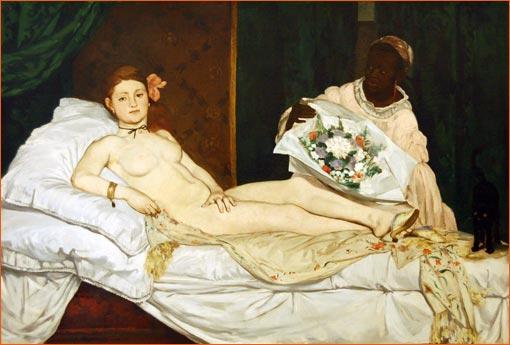 Olympia d'Edouard Manet.