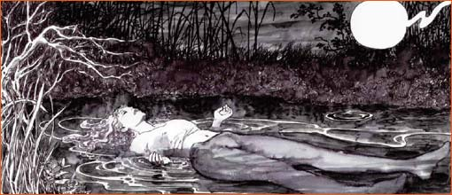 La mort d'Ophélie selon Milo Manara.