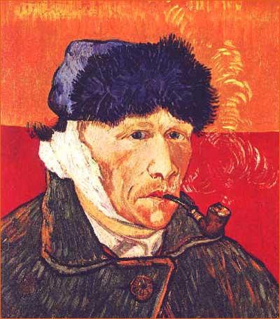 Autoportrait à l'oreille bandée de Vincent Van Gogh.