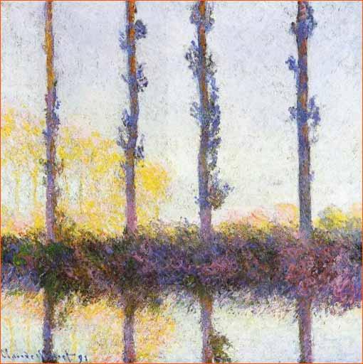 -Les quatre arbres- ou -Les quatres peupliers- de Claude Monet.