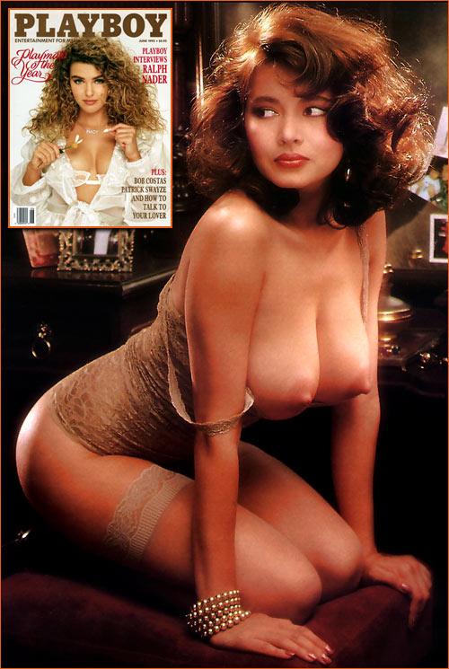 Photographie d'Angela Melini prise par Arny Freytag pour le Playboy de Juin 1992.