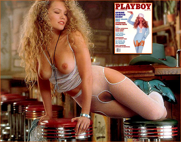 Photographie de Nicole Wood par Richard Fegley pour Playboy.