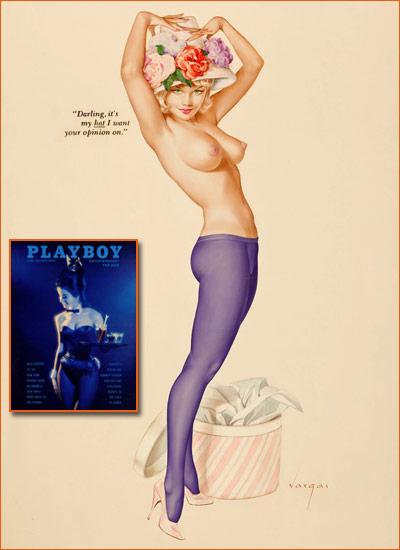Illustration d'Alberto Vargas pour Playboy.