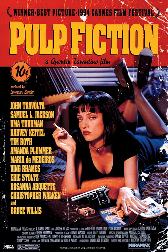 Pulp Fiction de Quentin Tarantino.