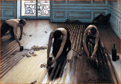 Les raboteurs de parquet de Gustave Caillebotte.