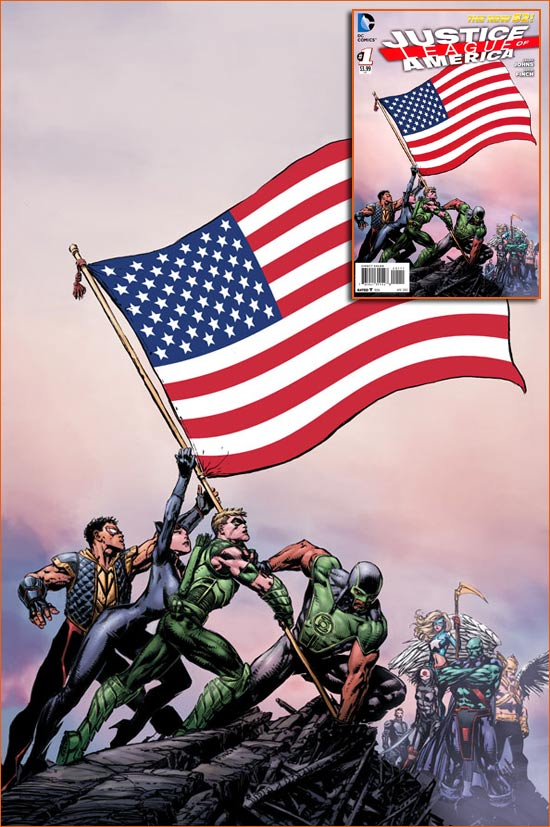 Raising the flag on Iwo Jima selon David Finch.