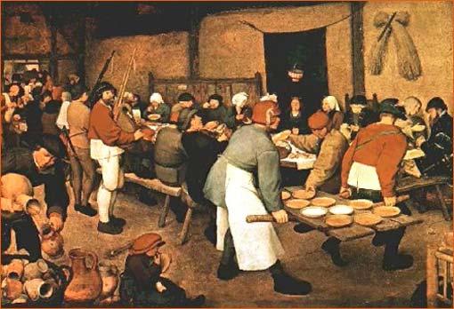 Le repas de noces de Pieter Bruegel.
