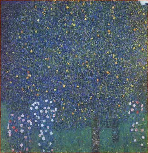 Rosier sous les arbres de Gustav Klimt.