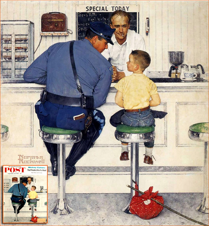 The Runaway de Norman Rockwell.