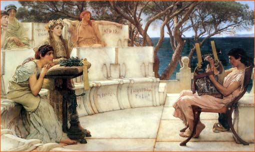 Sapho et Alcaeus de Sir Lawrence Alma-Tadema.