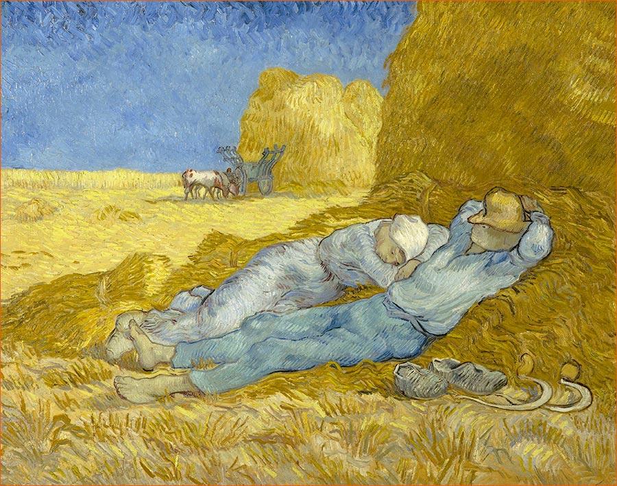 La méridienne ou La sieste d'après Millet de Vincent Van Gogh.