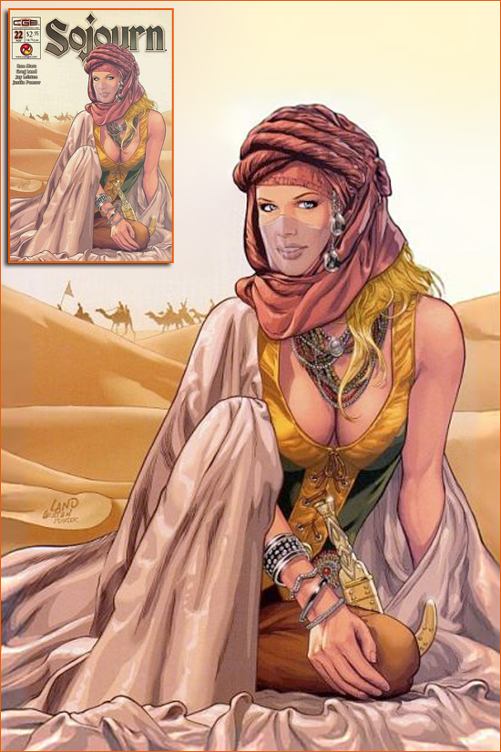 Yamila Diaz-Rahi par Jeff Bark selon Greg Land.