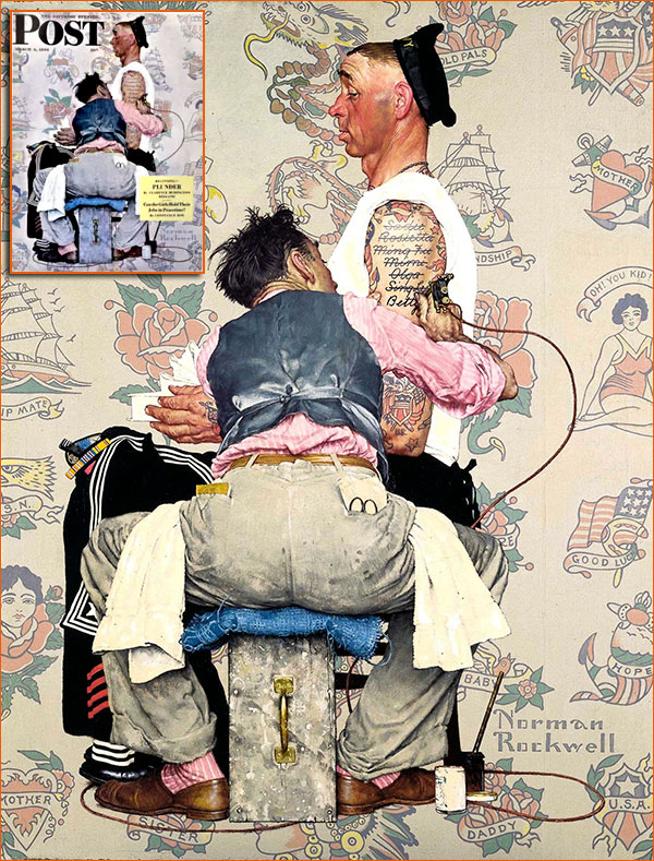 Tatoo Artist de Norman Rockwell.