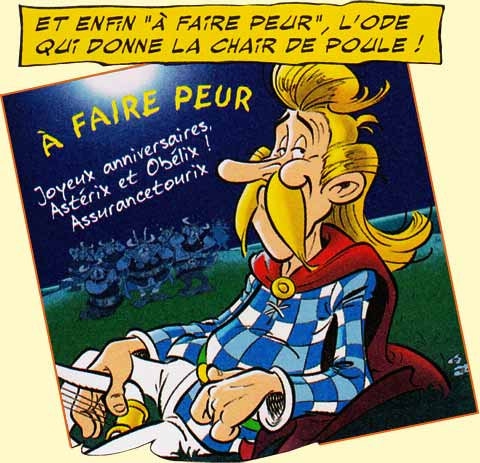 Thriller selon Albert Uderzo.