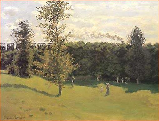 Train dans la campagne de Claude Monet.