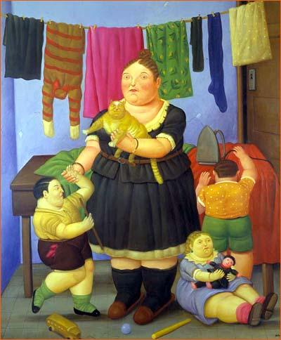 La Viuda de Fernando Botero.