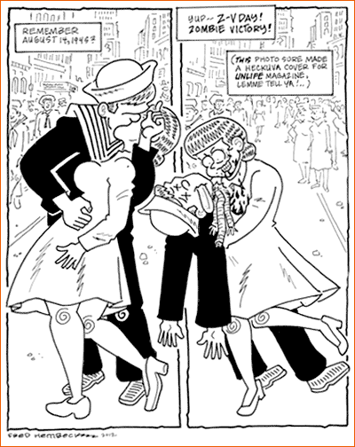 V-J Day in Times Square selon Fred Hembeck.