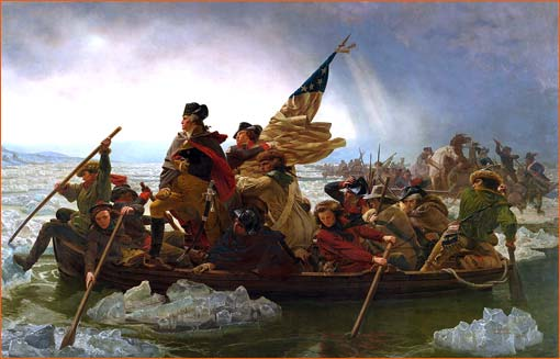 Washington crossing the Delaware d'Emanuel Leutze.