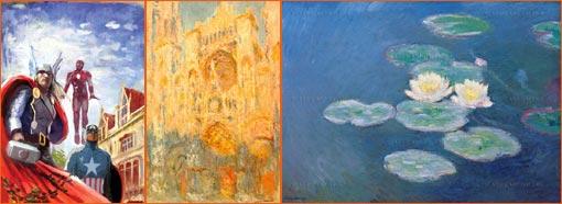 Avengers Assemble #2 de Stéphanie Hans à la manière de Claude Monet