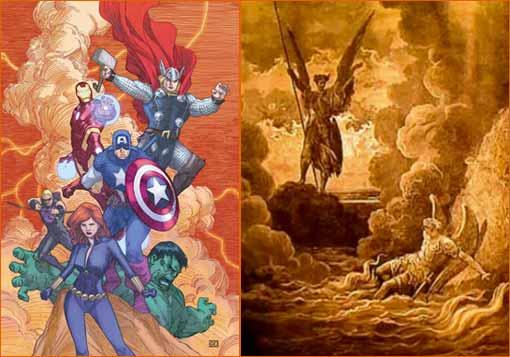 X-Men #27 de Khoi Pham à la manière de Gustave Doré.