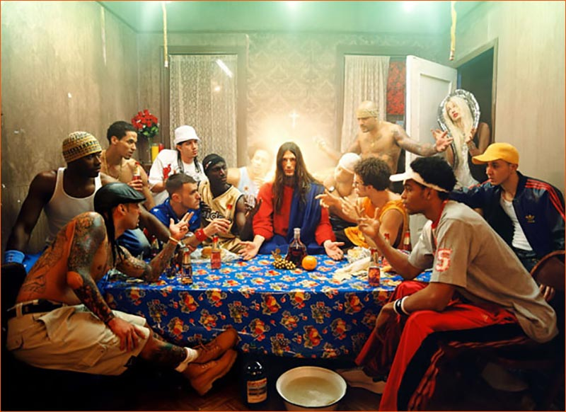 La Cène selon David Lachapelle.