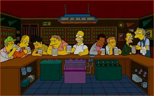 La Cène / Les Simpson.
