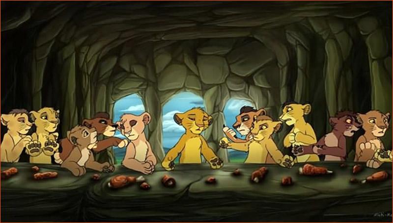 La Cène / Timon et Pumbaa.