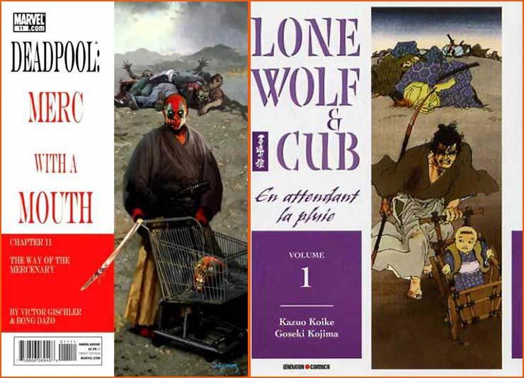 Deadpool: Merc With A Mouth #11 (Arthur Suydam) et Lone Wolf et Cub #1 (Goseki Kojima).