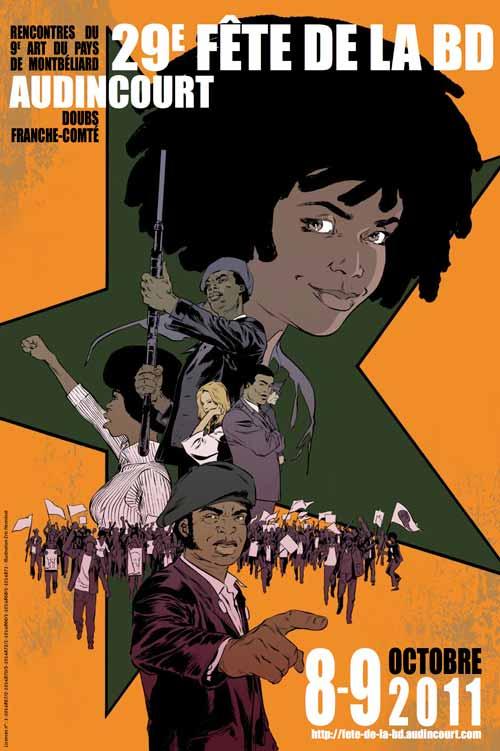 Affiche d'Eric Henninot pour la 29e Fête de la BD d'Audincourt.