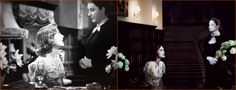 Rebecca (Alfred Hitchcock) selon Julian Broad avec Keira Knightley et Jennifer Jason Leigh en lieu et place de Joan Fontaine et Judith Anderson.