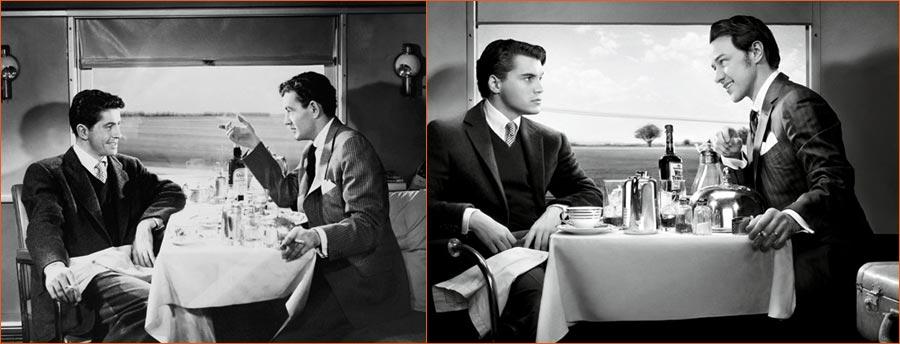 L'inconnu du Nord-Express (Alfred Hitchcock) selon Art Streiber avec Emile Hirsch et James McAvoy en lieu et place de Farley Granger et Robert Walker.