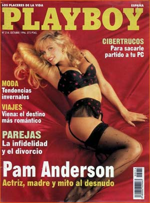 Pamela Anderson dans Playboy espagnole.