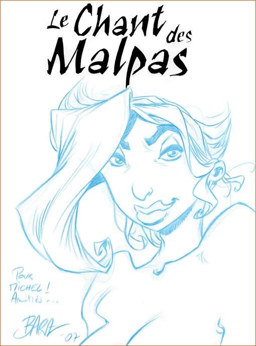 Dédicace de Nicolas Bara (Le chant des Malpas).