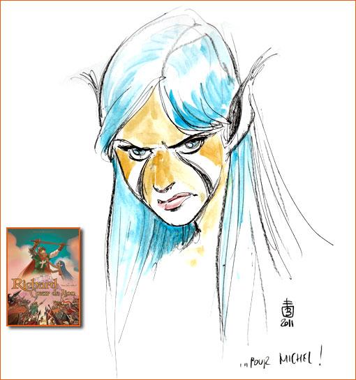 Dédicace de Federico Bertolucci sur Richard Cœur de Lion.