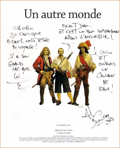 Dédicace de Philippe Bonifay.