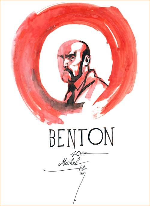Dédicace Stéphane Perger (Sir Arthur Benton).