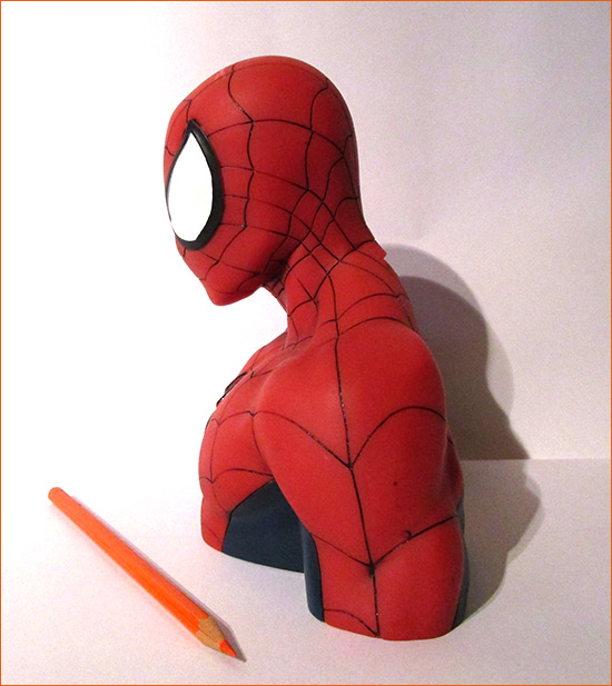 Tirelire Spider-Man (Semic Distribution) - Côté gauche.
