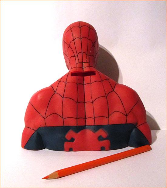 Tirelire Spider-Man (Semic Distribution) - Dos.