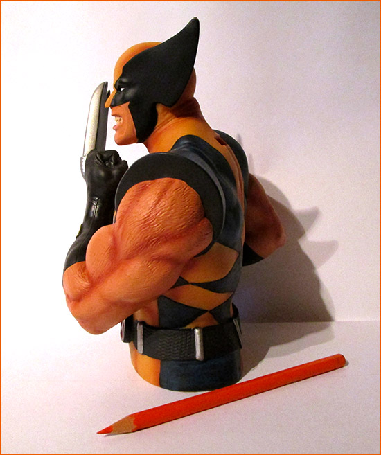 Tirelire Wolverine (Semic Distribution) - Côté gauche.