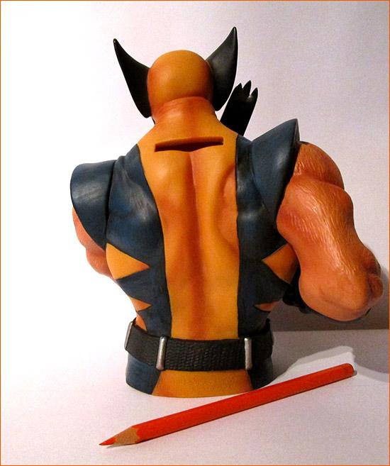 Tirelire Wolverine (Semic Distribution) - Dos.
