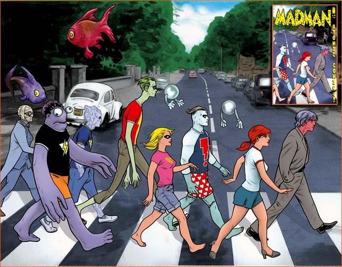 Abbey Road selon Mike Allred.