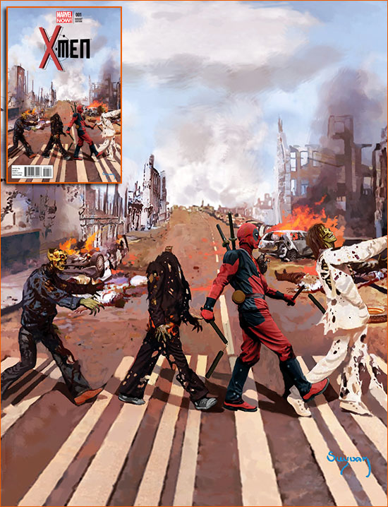 Abbey Road selon Arthur Suydam.