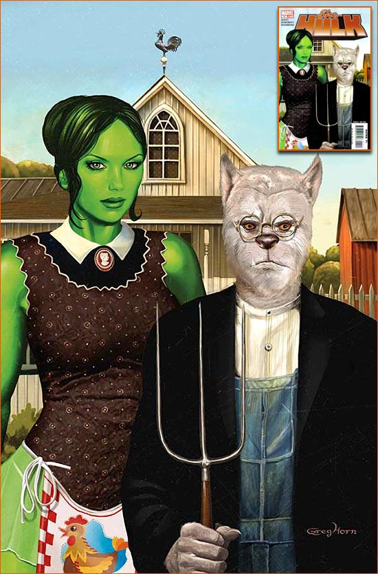 American Gothic selon Greg Horn.