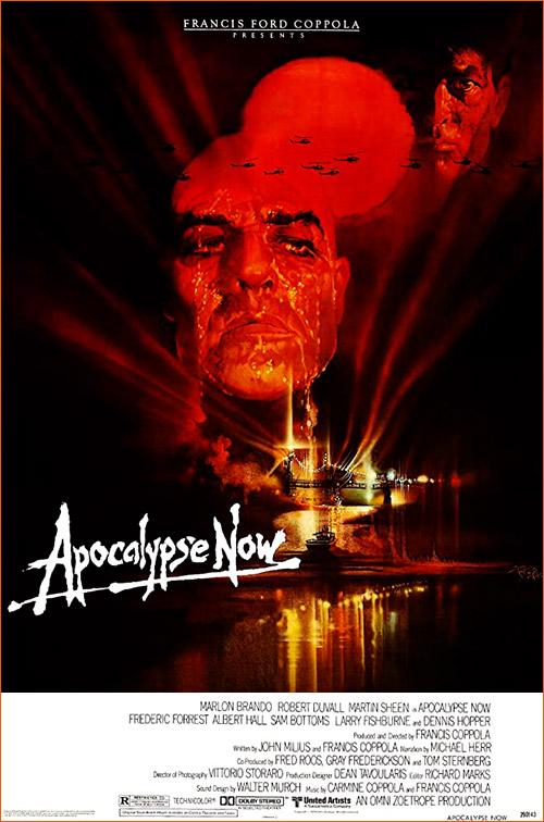 Apocalypse Now de Francis Ford Coppola (Affiche de Bob Peak).