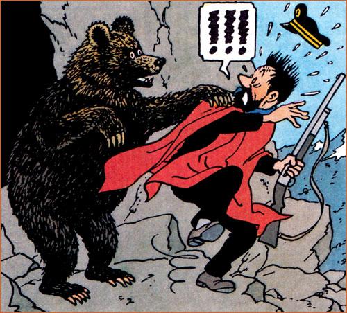 César Cascabel selon Hergé.