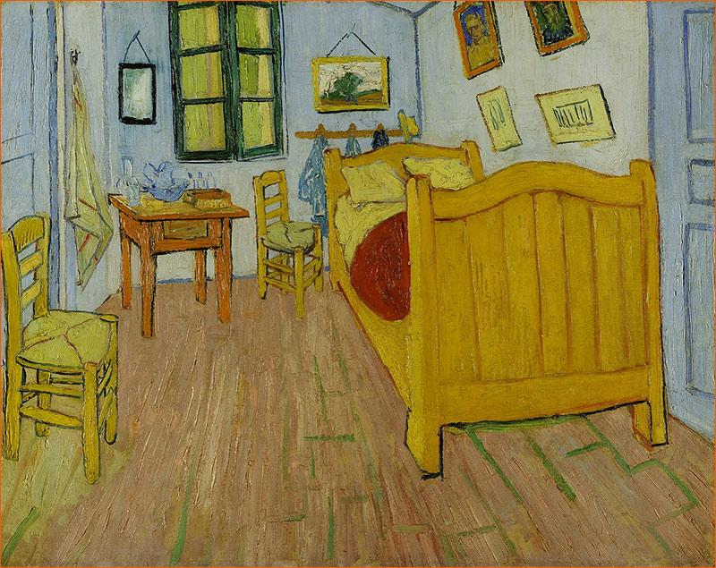 La chambre de Van Gogh à Arles de Vincent Van Goth.